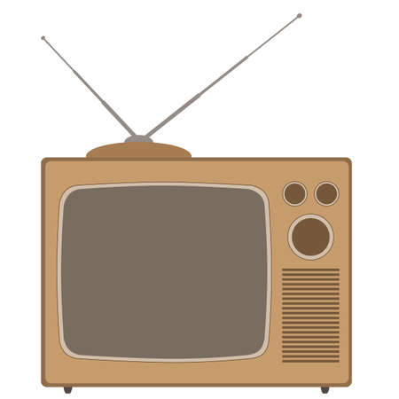 television aerial: An Old Style Television Set Illustration