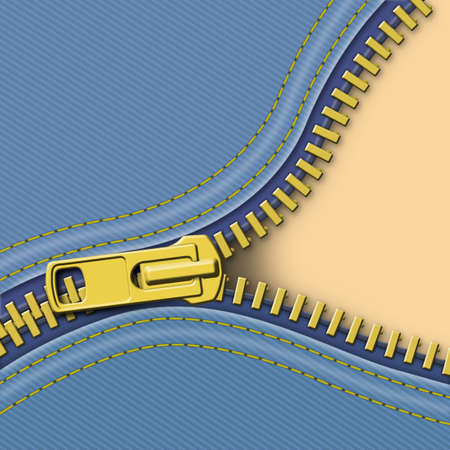zip: A Denim Zipper Background Illustration