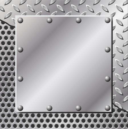 lamiera metallica: Uno sfondo metallico con filo piatto e rivetti