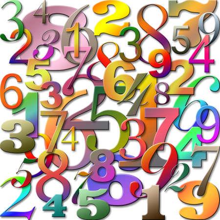 番号と、抽象的な背景
