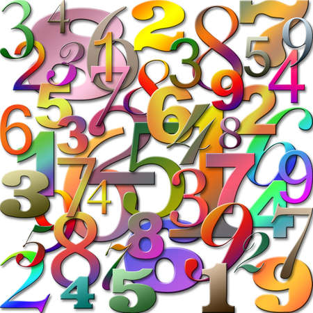 An Abstract Background with Numbers