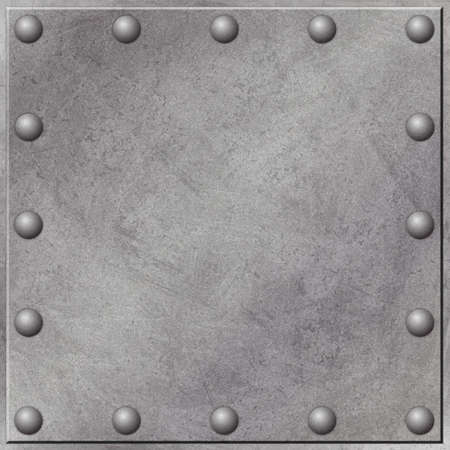 A Grunge Metal Background with Rivets photo