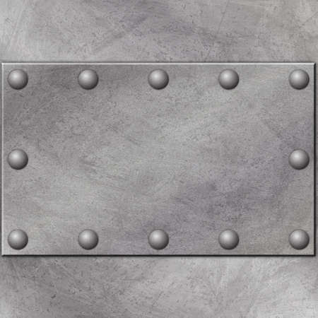 A Grunge Metal Background with Rivets Stock Photo - 5953729