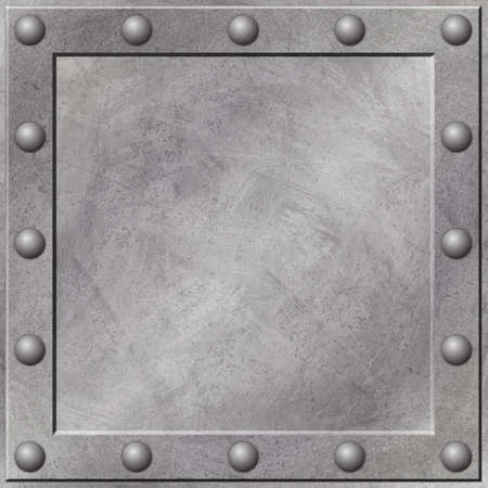 A Grunge Metal Background with Rivets Stock Photo - 5953727