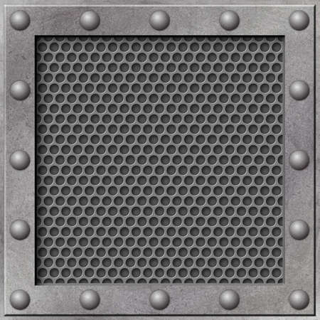 A Grunge Metal Background with Mesh Stock Photo - 5953724