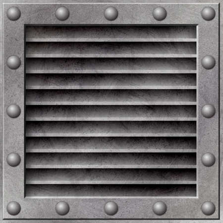 A Grunge Metal Background with Air Vent Stock Photo - 5953725