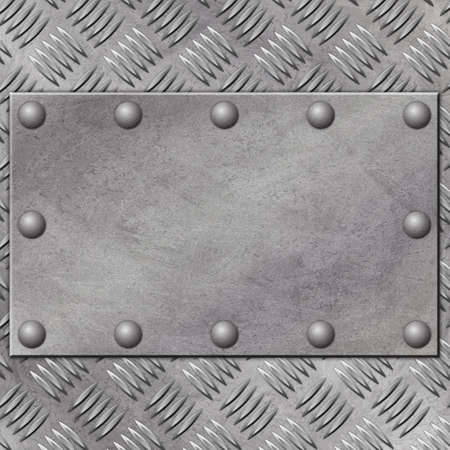 treadplate: A Grunge Metal Background with Rivets