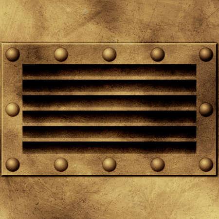 vent: Grunge Metal Background Stock Photo
