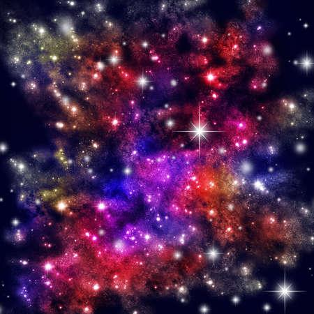 Espacio cósmico con muchas de las estrellas Foto de archivo - 6254478