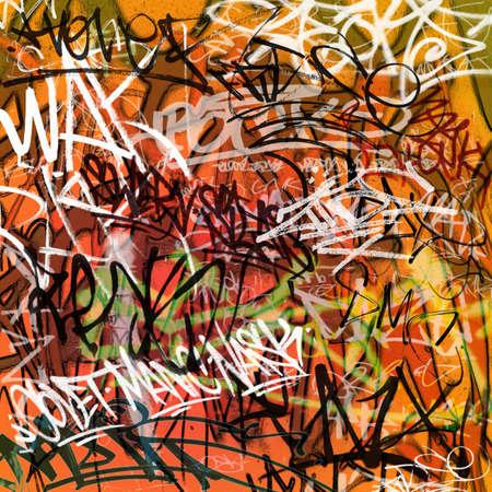pandilleros: Un fondo desordenado de pared de Graffiti