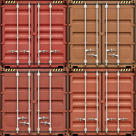 A Stack of Four freight Containers photo