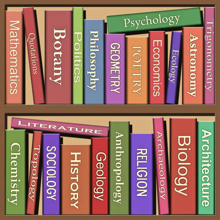 Lots of Books on Shelf Stock Photo - 7086041