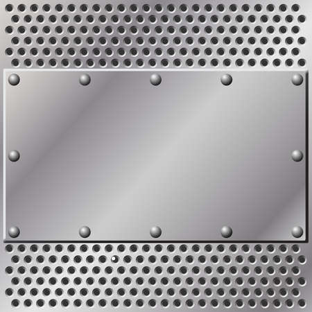 stainless steel: A Metal Background with Mesh and Rivets
