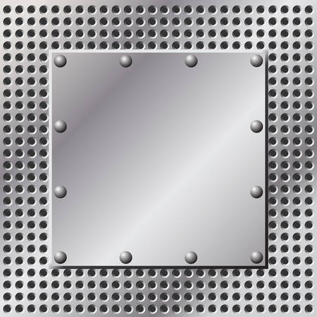 A Metal Background with Holes and Rivets Stock Vector - 7124695