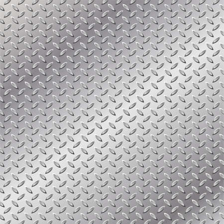 A Metal Background with Tread Plate Pattern Stock Vector - 7124707