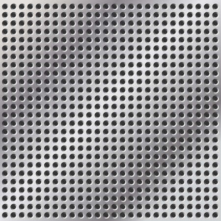 A Metal Background with Holes in Mesh Pattern Stock Vector - 7124694