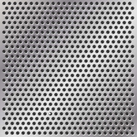 A Metal Background with Holes in Mesh Pattern Stock Vector - 7124696