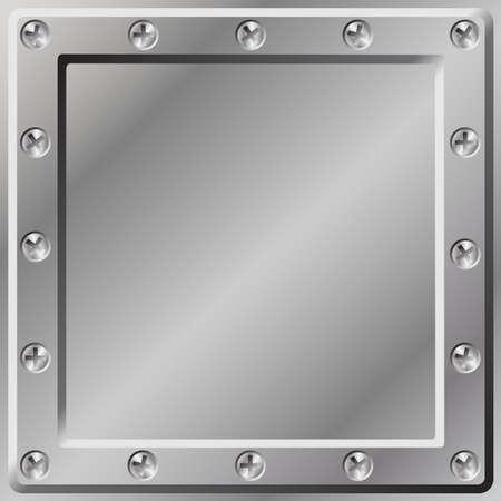 tornillo: Un fondo de metal con borde de tornillos