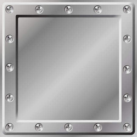 tornillos: Un fondo de metal con borde de tornillos