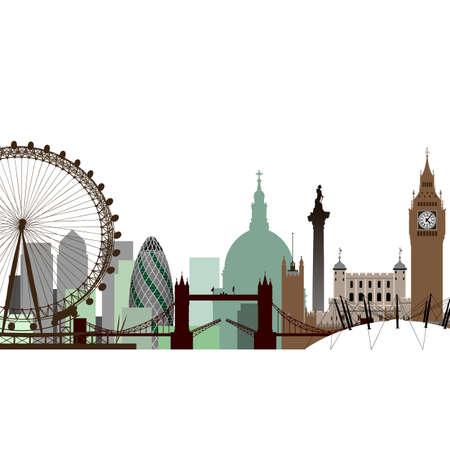 ロンドンの街並み  イラスト・ベクター素材