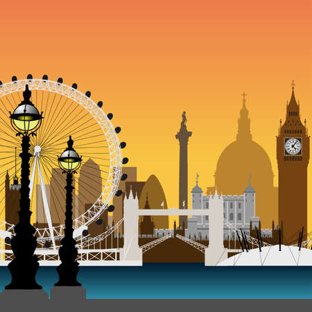 Cityscape of London Stock Vector - 7256409