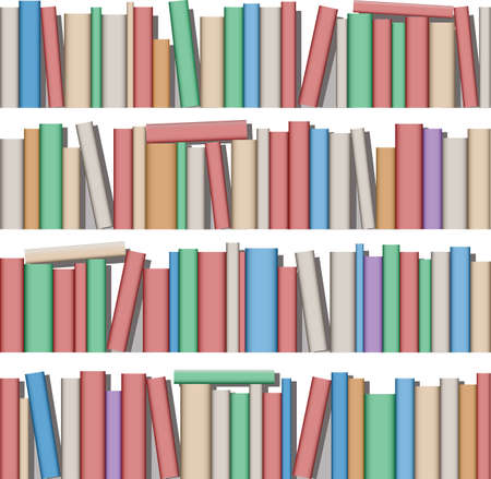 Lots of Books on Shelf Stock Vector - 7256410