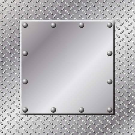 diamondplate: A Metal Background with Tread and Rivets Illustration