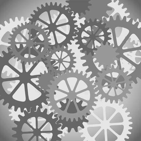 A Mechanical Background with Gears and Cogs Stock Vector - 7419772