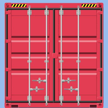 freight container: Detalle de un contenedor de carga de red