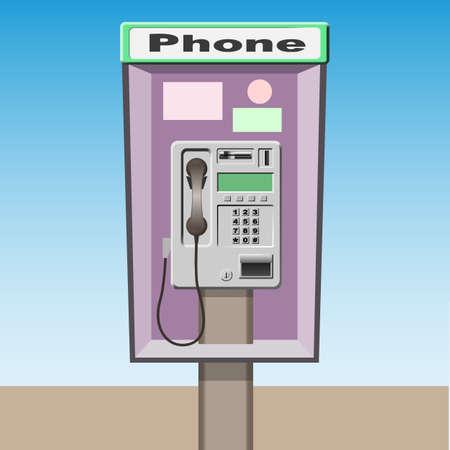 Betalen Phone Booth  Stock Illustratie