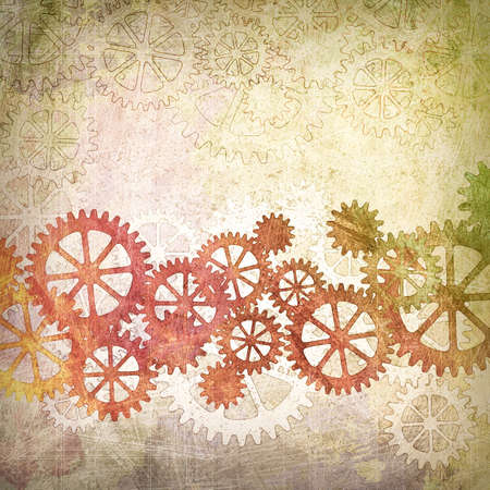 A Mechanical Grunge Background with Gears and Cogs