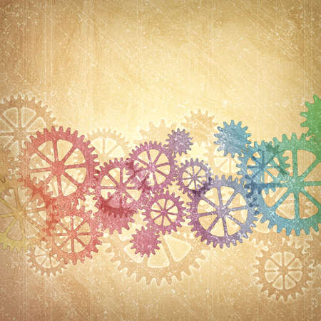 cogs and gears: A Mechanical Grunge Background with Gears and Cogs