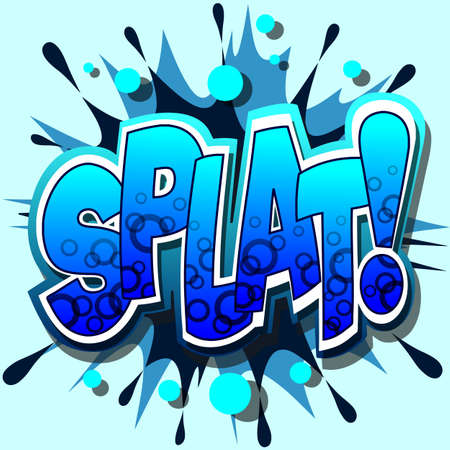 A Splat Comic Book Illustration  Stock Vector - 8358714