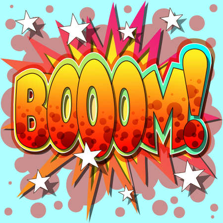 A Boom Comic Book Illustration  Stock Vector - 8442567