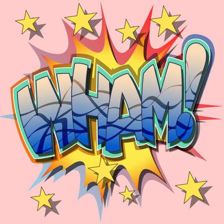excite: A Wham Comic Book Illustration  Illustration