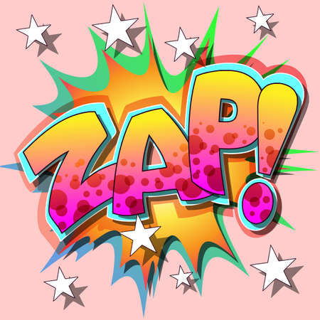 exciting: A Zap Comic Book Illustration  Illustration