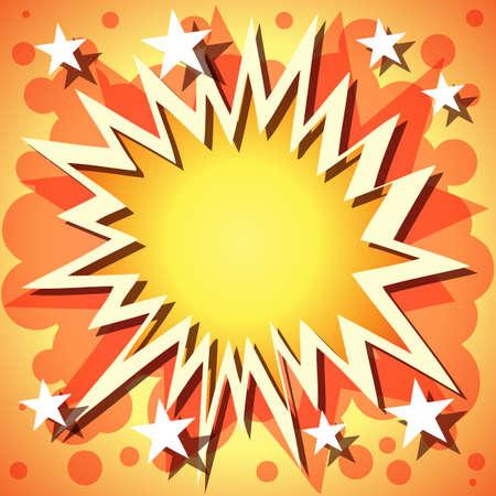 explosie: Een Vector Comic Book explosie achtergrond met sterren