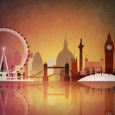 An Artistic Vintage Grunge Cityscape of London Stock Photo - 8790258