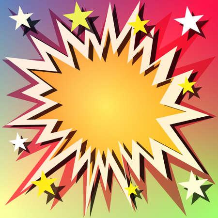 estrella caricatura: Fondo de explosión de cómic con estrellas Vectores