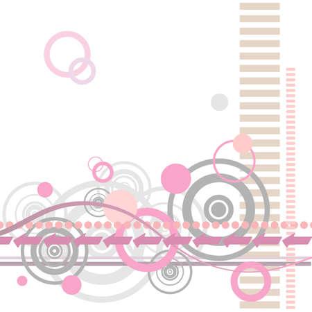 Un diseño de fondo abstracto Retro con líneas y círculos