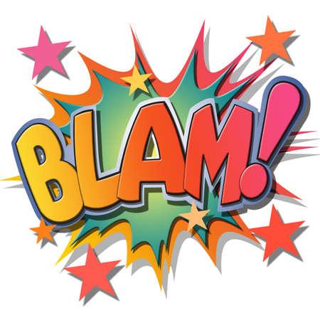 A Blam Comic Book Illustration  illustration