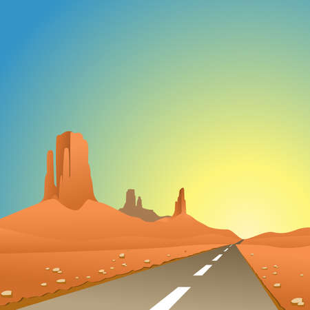 desert road: A Desert Landscape with Road, Highway