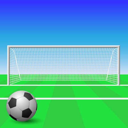Een Soccer Goal met Ball