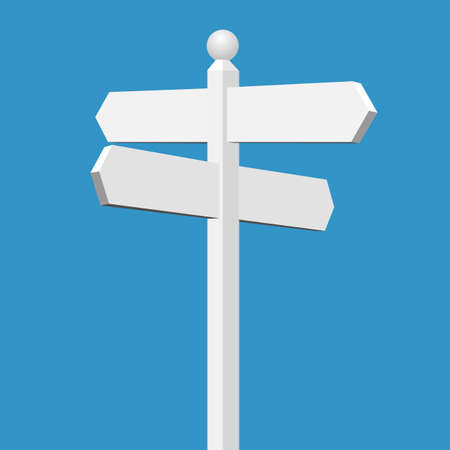 A Blank White Sign Post Vector