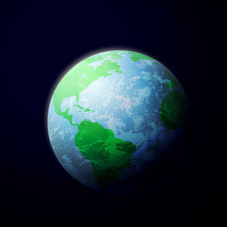 The Planet Earth from Space Stock Vector - 10367797