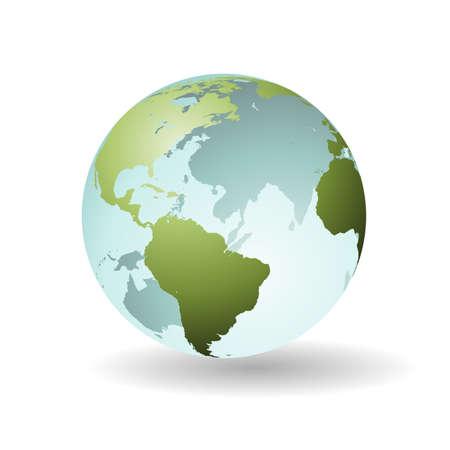 Ein Transparent Earth Globe, Kugel, Map Vektorgrafik