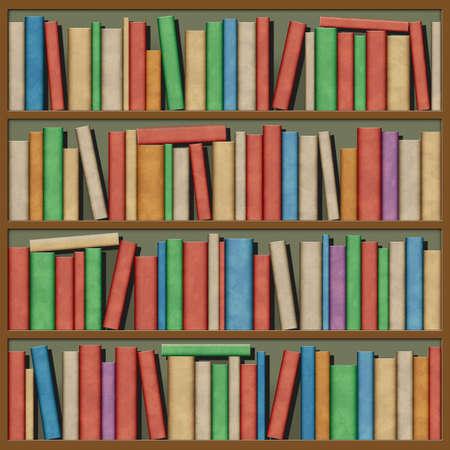 encyclopedias: An Illustration of Books on Shelf Stock Photo