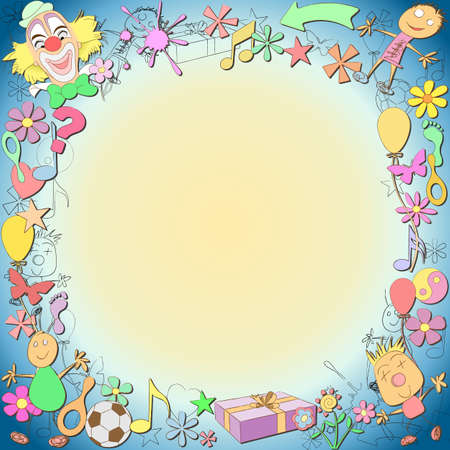 A Fun Childlike Sketched Border Stock Vector - 12085568
