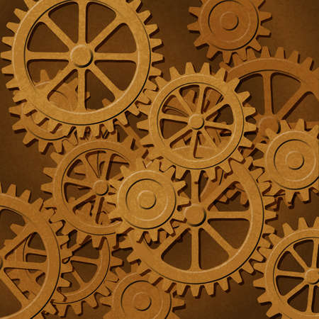 A Mechanical Background with Gears and Cogs Vectores