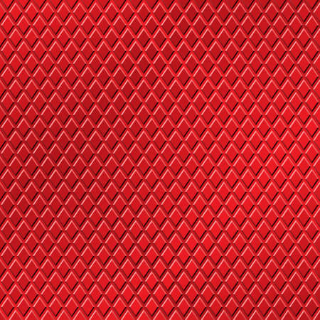A Red Metallic Background with Diamond Pattern Vector
